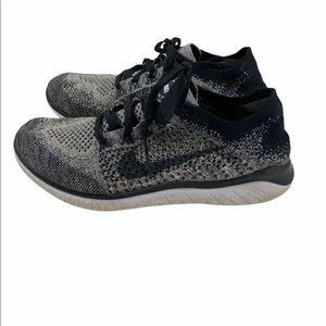 Nike Free RN Flyknit 2018 Black White 8.5